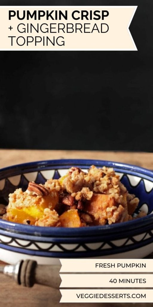 Pinnable image for Pumpkin Crisp (pumpkin crumble)