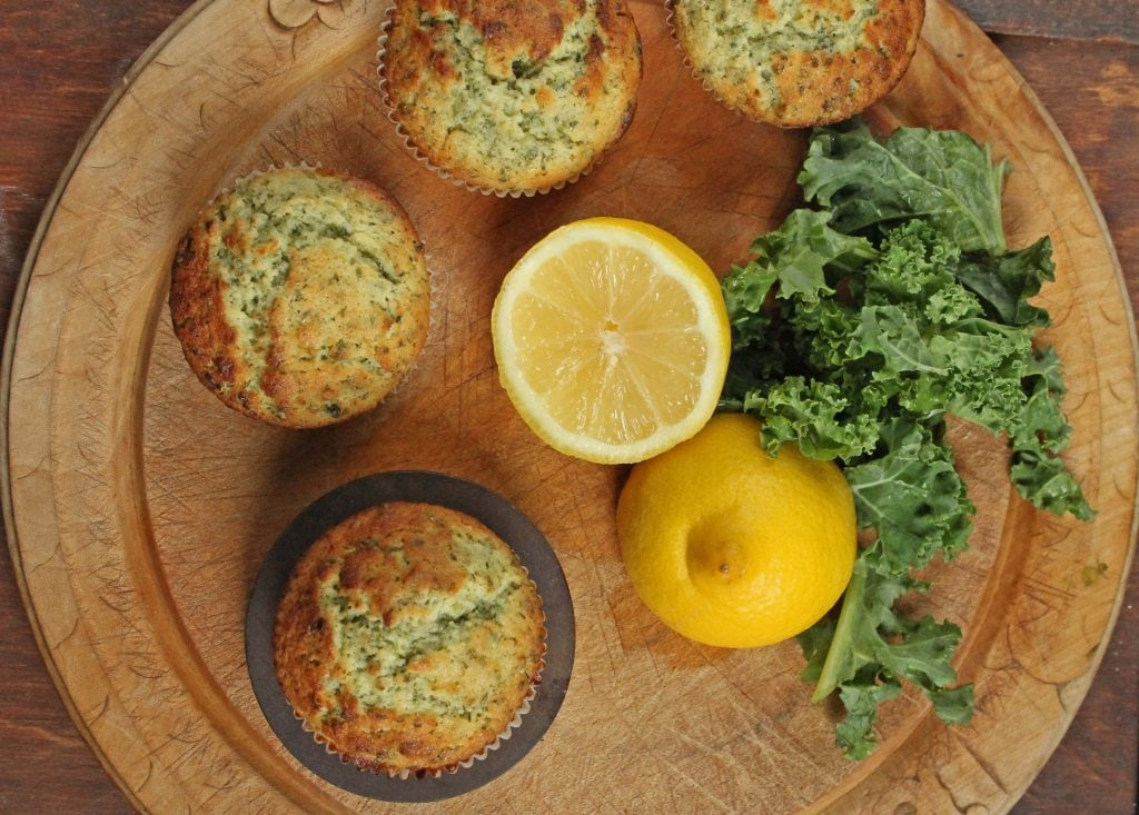 Lemon and Kale Muffins | Veggie Desserts