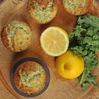 Kale and Lemon Muffins