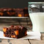 Coconut Oil Brownies with Maple Roasted Sweet Potato