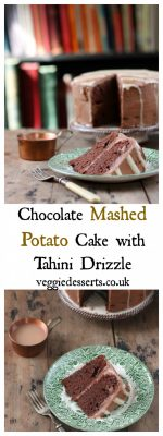 Chocolate Mashed Potato Cake with Tahini Icing | Veggie Desserts Blog