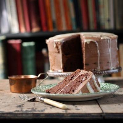 Mashed Potato Chocolate Cake with Tahini Drizzle   Veggie Desserts
