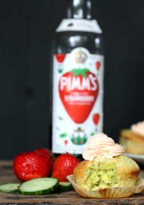 Cucumber and Lemon Cupcakes with Pimm's Icing   Veggie Desserts Blog