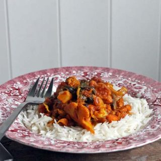 Cauliflower Leaf and Sweet Potato Curry