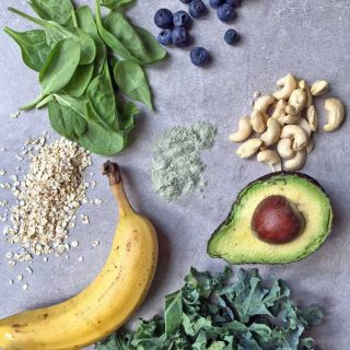 Lean Greens Superfood Smoothie Bowl with nuts, seeds, berries and carrot   Veggie Desserts Blog