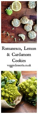 Romanesco Cardamom Lemon Cookies | Veggie Desserts Blog