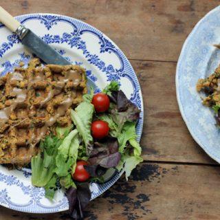 Falafel Waffles | Veggie Desserts Blog