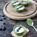 Matcha Coconut and Yogurt Tarts
