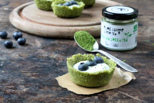 Matcha Tea Coconut and Yogurt Tarts   Veggie Desserts Blog