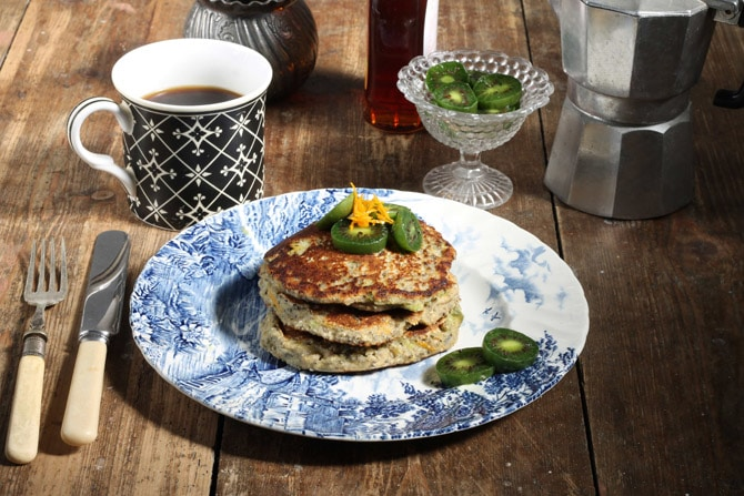 Zesty Orange Chia Pancakes are Vegan and Gluten-Free. The chia makes them light and fluffy and the orange gives a zesty kick.