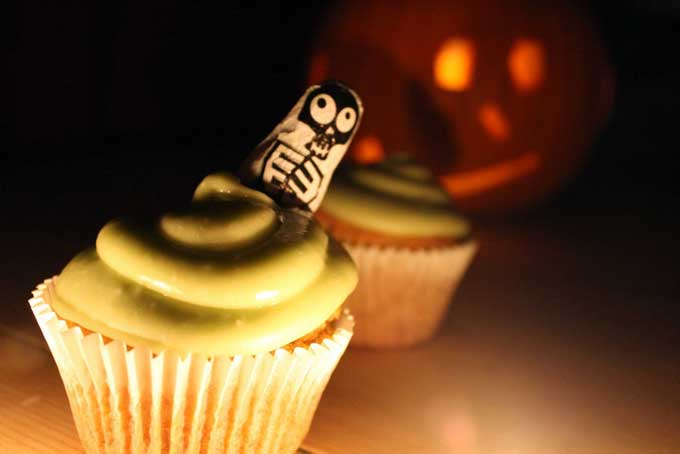Pumpkin Cupcakes with Avocado Buttercream Icing