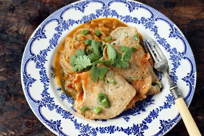 Thai-Style Omelette (Vegetarian Kai Jeow) | Veggie Desserts Blog