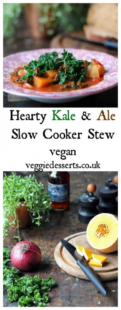 Kale and Ale Slow Cooker Stew | Vegan | Veggie Desserts Blog