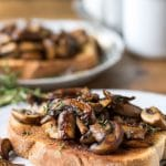 Mushrooms on Toast with Garlic and Thyme