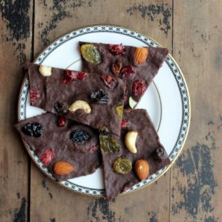 Pumpkin and Spice Dark Chocolate Bark