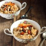 Winter-Spiced Carrot Porridge with Maple Caramelised Nuts
