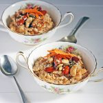 Winter-Spiced Carrot Porridge with Maple Caramelised Nuts and Seeds | Veggie Desserts Blog