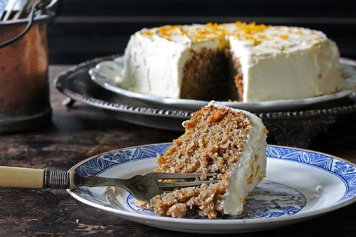 Carrot Chinese Five Spice Cake with Orange Icing   Veggie Desserts Blog