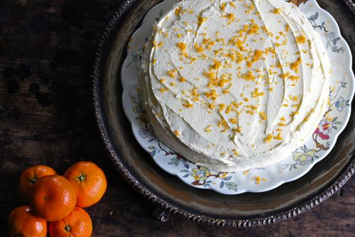 Carrot Chinese Five Spice Cake with Orange Icing | Veggie Desserts Blog