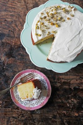 Chamomile Cake with Salted Honey Buttercream | Veggie Desserts Blog