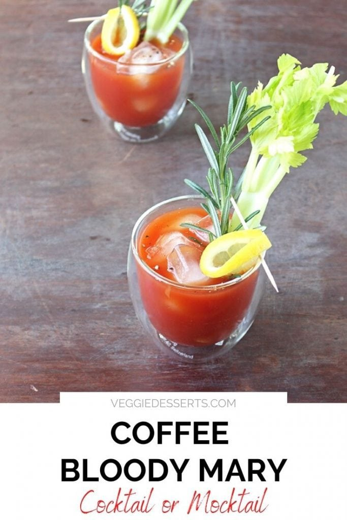 Glass of bloody mary, with text overlay