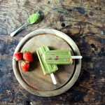 Strawberry and Matcha Popsicles