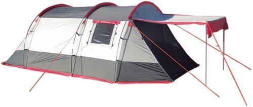 A tent set up.