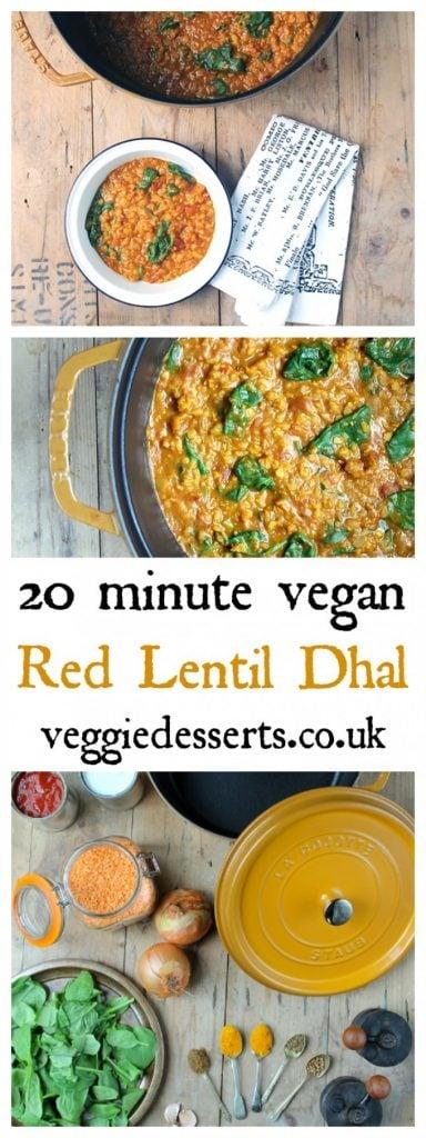 Red Lentil Dhal | Vegan & Gluten Free | 30 minutes | Veggie Desserts Blog | Lentil Dahl