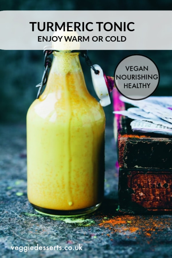 This turmeric tonic, from David and Luisa ofGreen Kitchen Stories' new book, Green Kitchen Smoothies, is a soothing and sweet drink based on an Indian Ayurvedic home remedy. #smoothie #immuneboosting #turmeric #turmericsmoothie #coldremedies