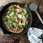 Vegetarian Sausage Skillet Pizza