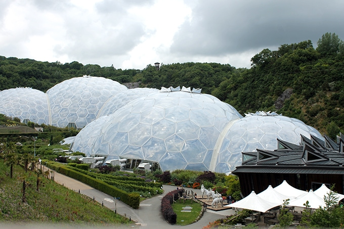 View of the biomes at Eden Project Cornwall in my review of YHA Eden Project