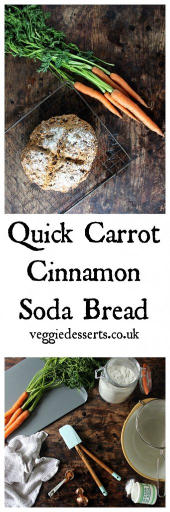 Quick Cinnamon Carrot Soda Bread | Veggie Desserts Blog