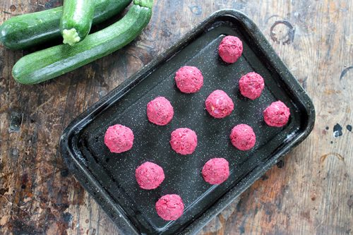 Courgetti and Beet Balls | Veggie Desserts Blog