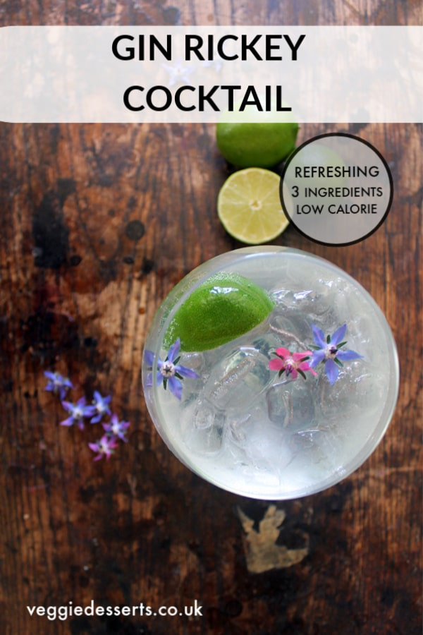 This is the ultimate classic Gin Rickey cocktail! It is refreshing and delicious, plus it's super easy to make with just a few ingredients. #gincocktail #cocktail #ginrickey #summercocktail