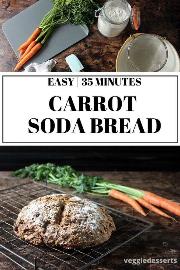 pinnable image for Carrot Irish Soda Bread recipe.