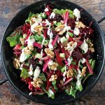 Beetroot and Blackberry Salad with Tahini Dressing