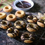 Baked Pumpkin Donuts with Chocolate Glaze
