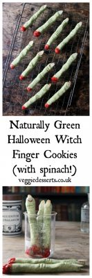 Naturally Green Halloween Witch Finger Cookies (with spinach!) | Veggie Desserts Blog