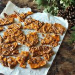 Ginger Pecan Brittle with Chocolate Drizzle