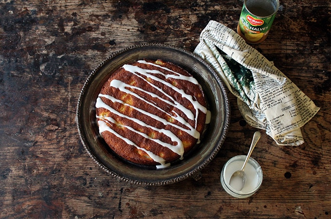 Gluten-free Ginger and Pear Polenta Cake | Veggie Desserts by Kate Hackworthy