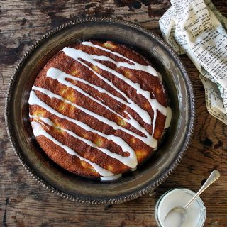 Ginger and Pear Polenta Cake (gluten-free)