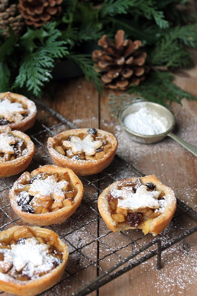 Sweet Apple and Cider Mince Pies with Cheddar Pastry