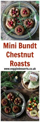 Mini Bundt Chestnut Roasts with Sage Gravy | Veggie Desserts Blog