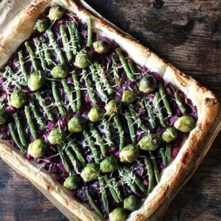 Red Cabbage and Brussels Sprout Tart