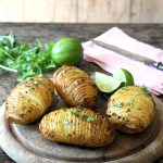 Hasselback Potatoes with Chilli and Lime Butter
