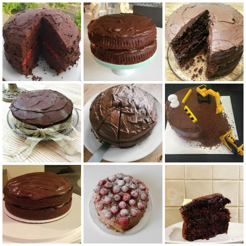 Reader bakes of my vegan chocolate cake recipe