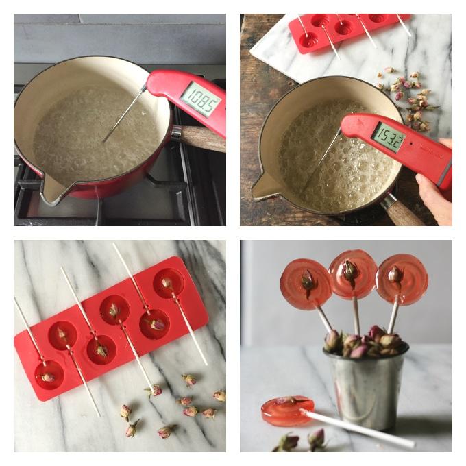 Mint Rose Lollipops | Veggie Desserts Blog