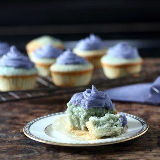 White Chocolate and Purple Potato Cupcakes with Purple Potato Frosting | Veggie Desserts Blog