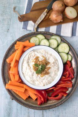 Lighter French Onion Dip   Veggie Desserts Blog