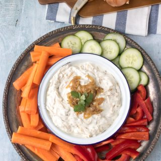 Lighter French Onion Dip | Veggie Desserts Blog